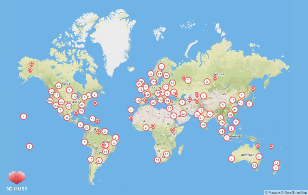 Le réseau 3D Hubs dépasse aujourd'hui les 7000 membres dans plus de 140 pays