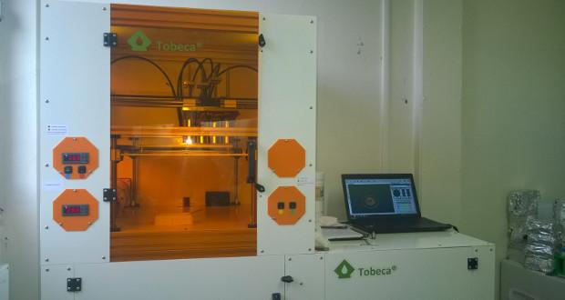 La bio-imprimante 3D développée en partenariat avec le français Tobeca