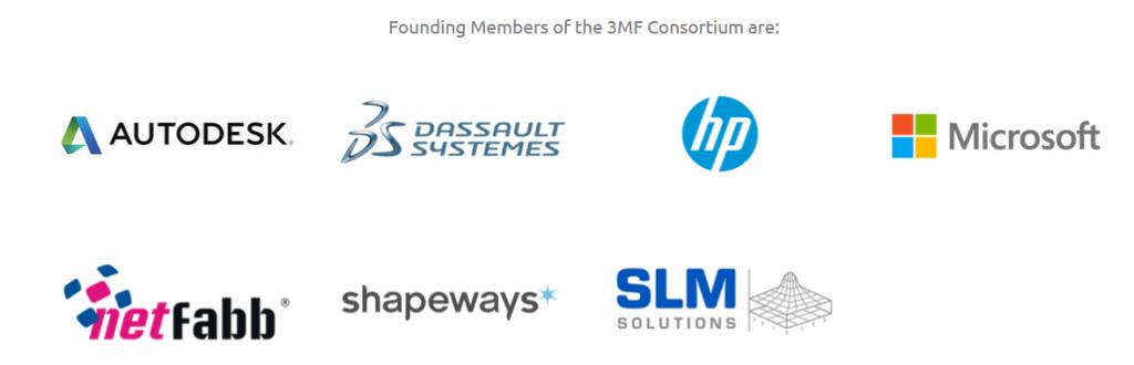 Sept acteurs technologiques viennent former ce consortium dédié à l'impression 3D