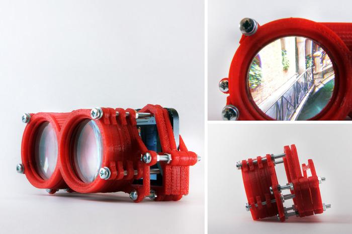 Altergaze est basé sur un système de lentilles intercalées entre un smartphone et des oculaires en caoutchouc