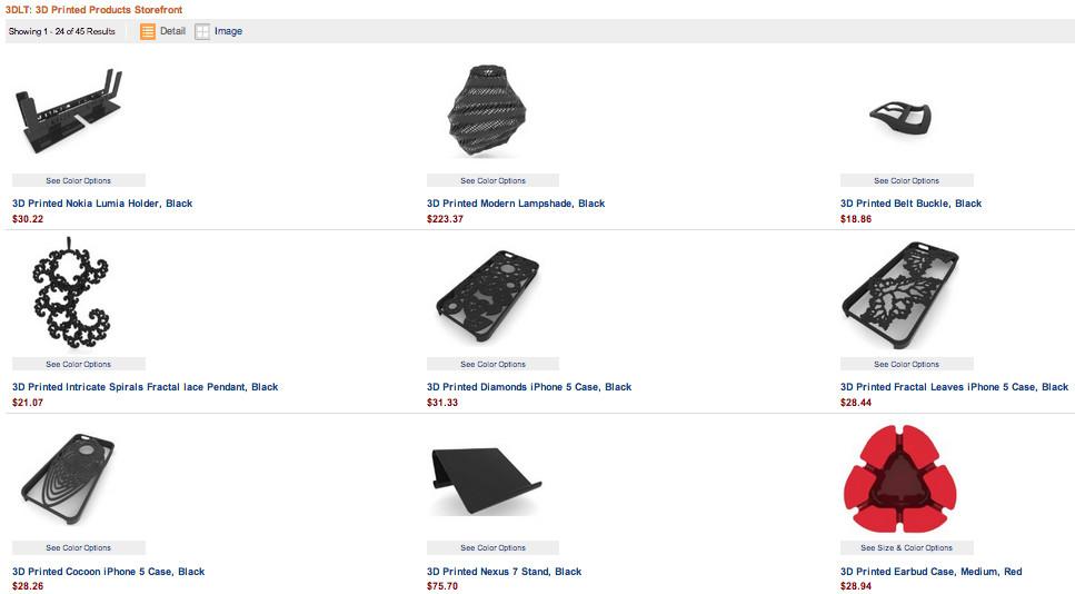 Amazon propose une cinquantaine de produits imprimés en 3D