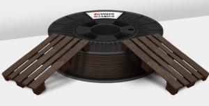 Le filament combine plastique et particules de noix de coco