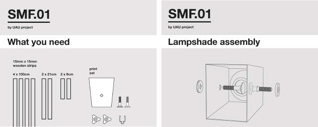 Notice de montage simple, qui rappelle une célèbre marque suédoise