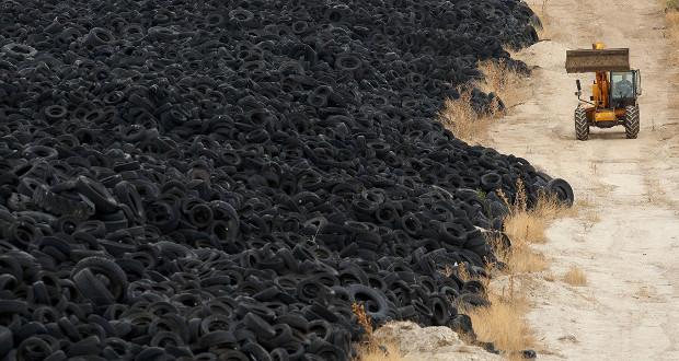 Les pneus abandonnés demeurent une problématique pour l'environnement
