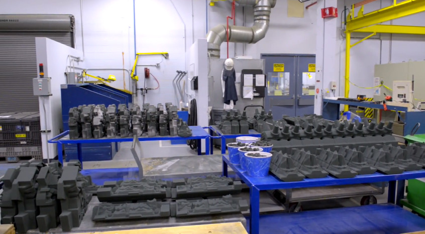 Les nombreux prototypes de composants imprimés en 3D
