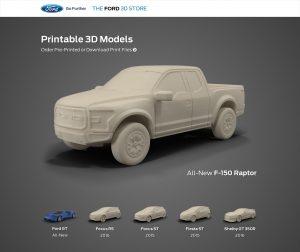 Le Ford 3D Store propose de télécharger les classiques de la marque