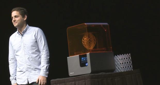 Max Lobovsky, CEO de Formlabs lors de la conférence de presse