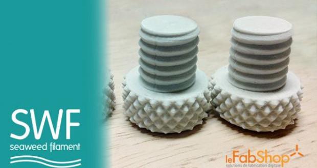 Le SeaWeed Filament développé par le FabShop et AlgoPack