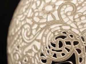 Détails sur la dentelle imprimée en 3D de la collection Lacelamps