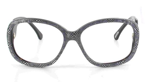 Plaque d'acétate, damier noir et blanc, effets « Vasarely »