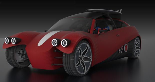 "La ""Swim"" version cabriolet de la future gamme de véhicules imprimés en 3D par Local Motors"