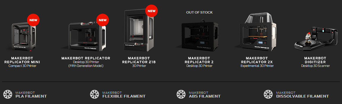 MakerBot Europe se chargera de distribuer l'ensemble de la gamme MakerBot