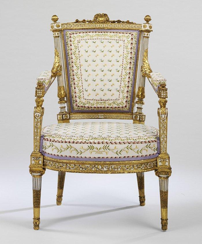 Le fauteuil suite à la restauration