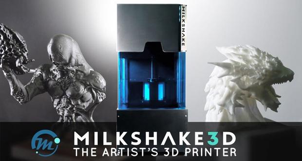 milkshake3d la nouvelle imprimante de r sine pour les artistes 3dnatives. Black Bedroom Furniture Sets. Home Design Ideas