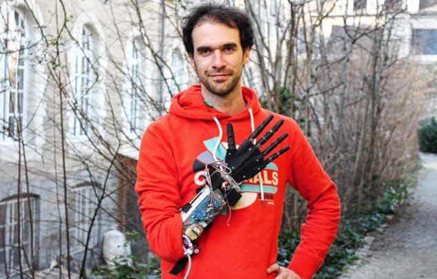 La prothèse imaginée par Nicolas Huchet