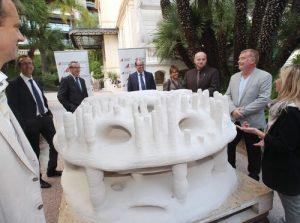 La présentation du premier récif imprimé en 3D dans les jardins de la Fondation Albert II à Monaco
