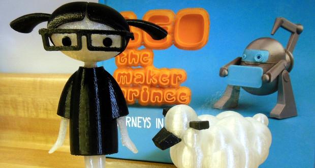 L'univers du livre Leo the Maker Prince s'imprime en 3D // Photo Carla Diana