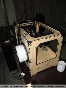 L'imprimante 3D déjà sur place au Liban