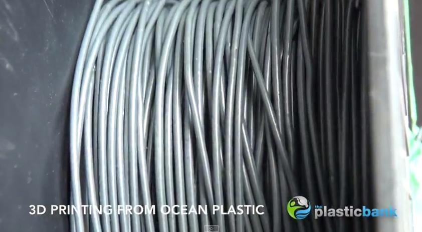 Le filament plastique issu des déchets plastiques