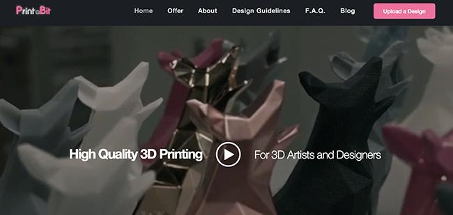 Sur le site de PrintaBit vous aurez la possibilité d'uploader en live votre modèle 3D