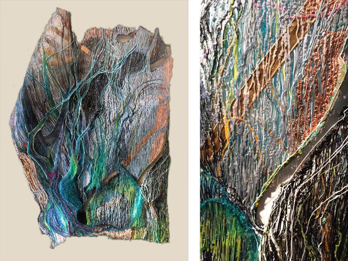 'Frankenstein' de Rachel Goldsmith, 46 x 61 x 8 cm - 2014
