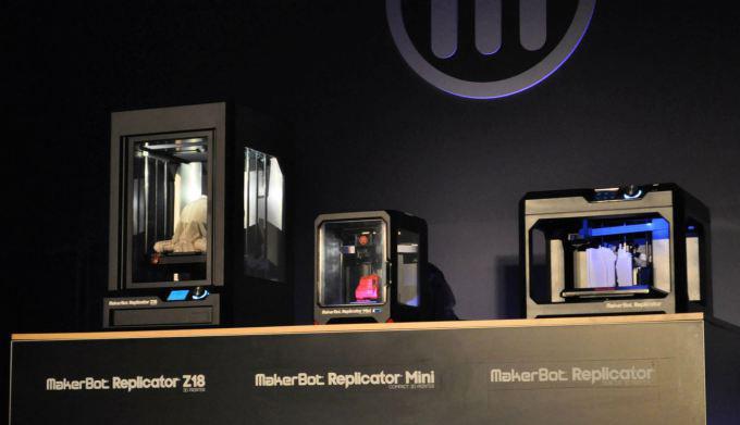 La présentation des nouvelles imprimantes de MakerBot lors du CES Las Vegas