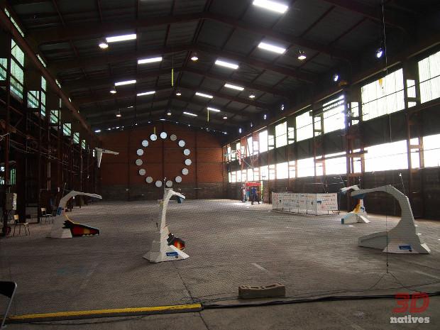 Le parcours de la volière de drone en installation