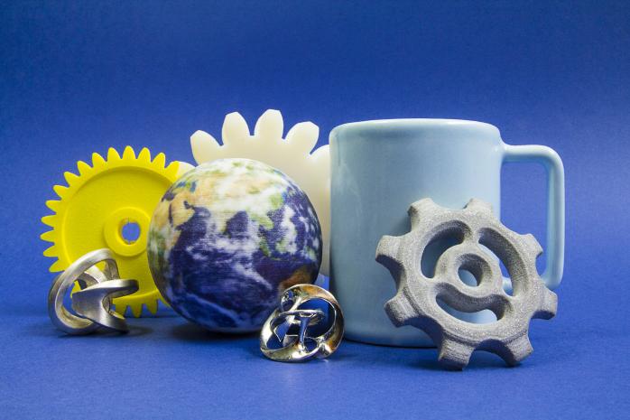 Quelques exemples de matériaux proposés par Sculpteo