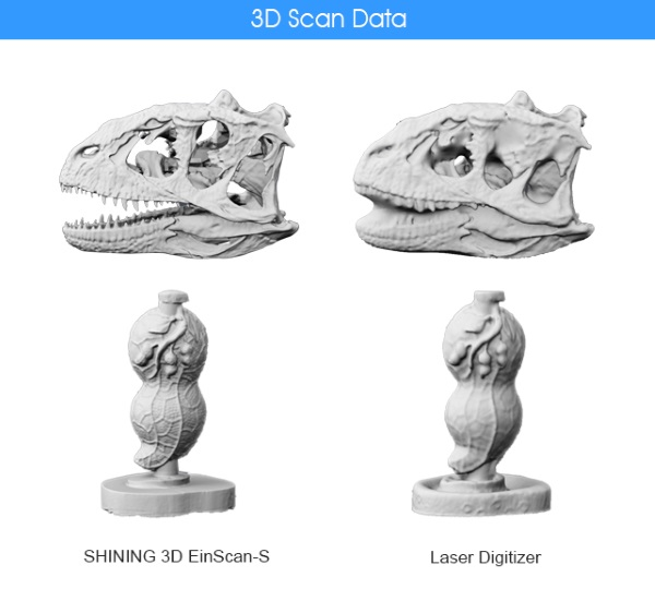Shining3D compare la qualité de ses scans avec le Digitizer de MakerBot