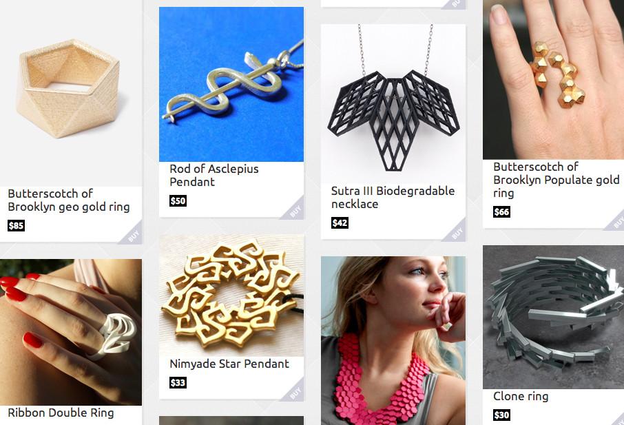 styleshapes la place de march pour bijoux imprim s en 3d 3dnatives. Black Bedroom Furniture Sets. Home Design Ideas