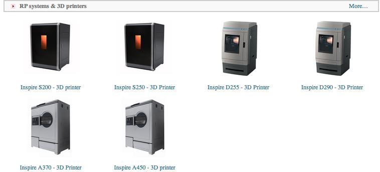 La gamme d'imprimantes 3D proposée par TierTime