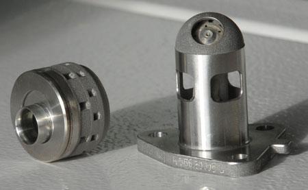 Un exemple de pièces réalisées par impression 3D chez Turbomeca