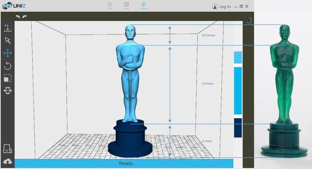 Le logiciel fournie avec l'imprimante 3D offrira quelques options intéressantes