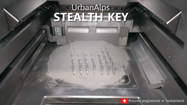 La clé imaginée par UrbanAlps est imprimée en 3D à base de métal