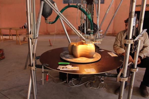 L'imprimante BigDelta de chez WASP capable d'imprimer des objets de 80 centimètres cubes