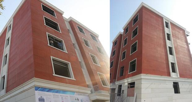 L'imprimante 3D de Winsun a permis de concevoir cet immeuble de 5 étages