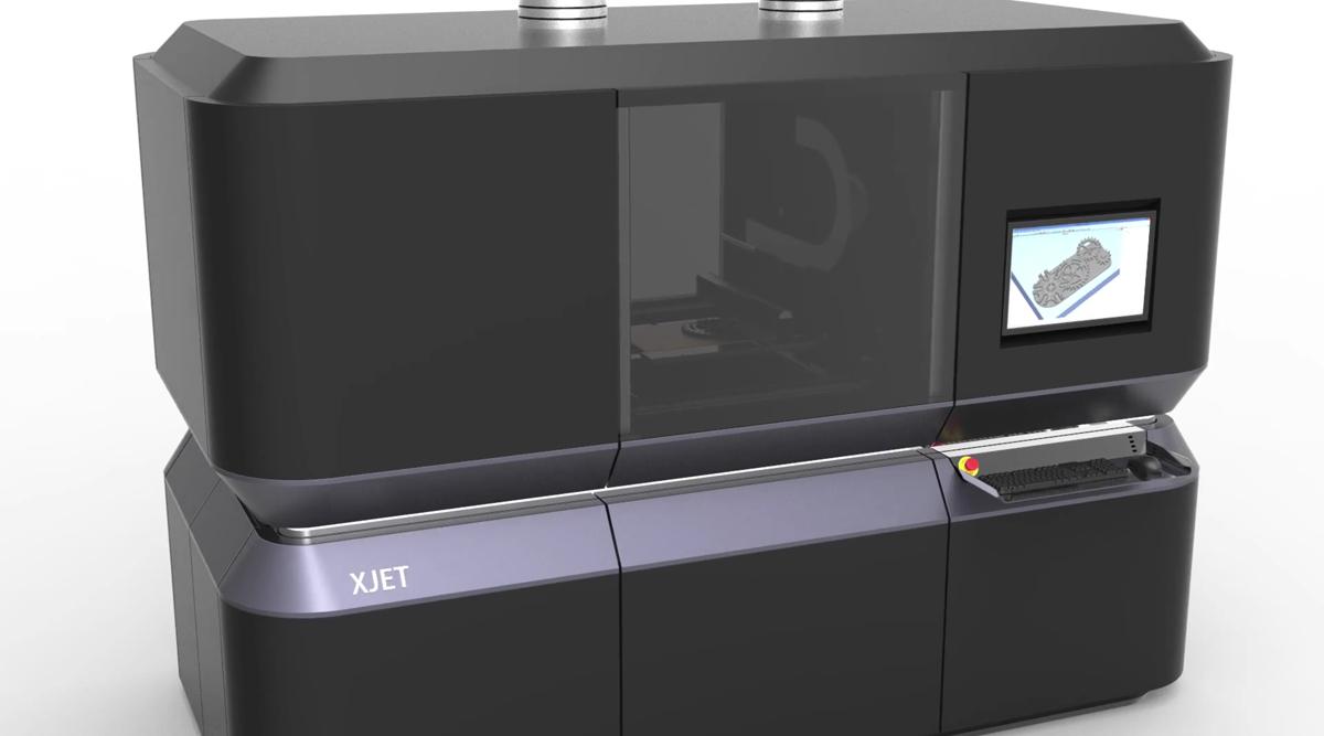 La technologie développée par XJet repose sur la déposition de fines gouttes de métal