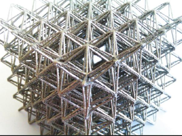 Fabrication additive de matériaux architecturés