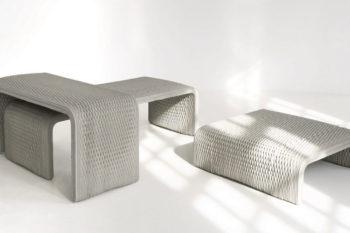 XtreeE imprime en 3D des bancs en béton aux motifs complexes