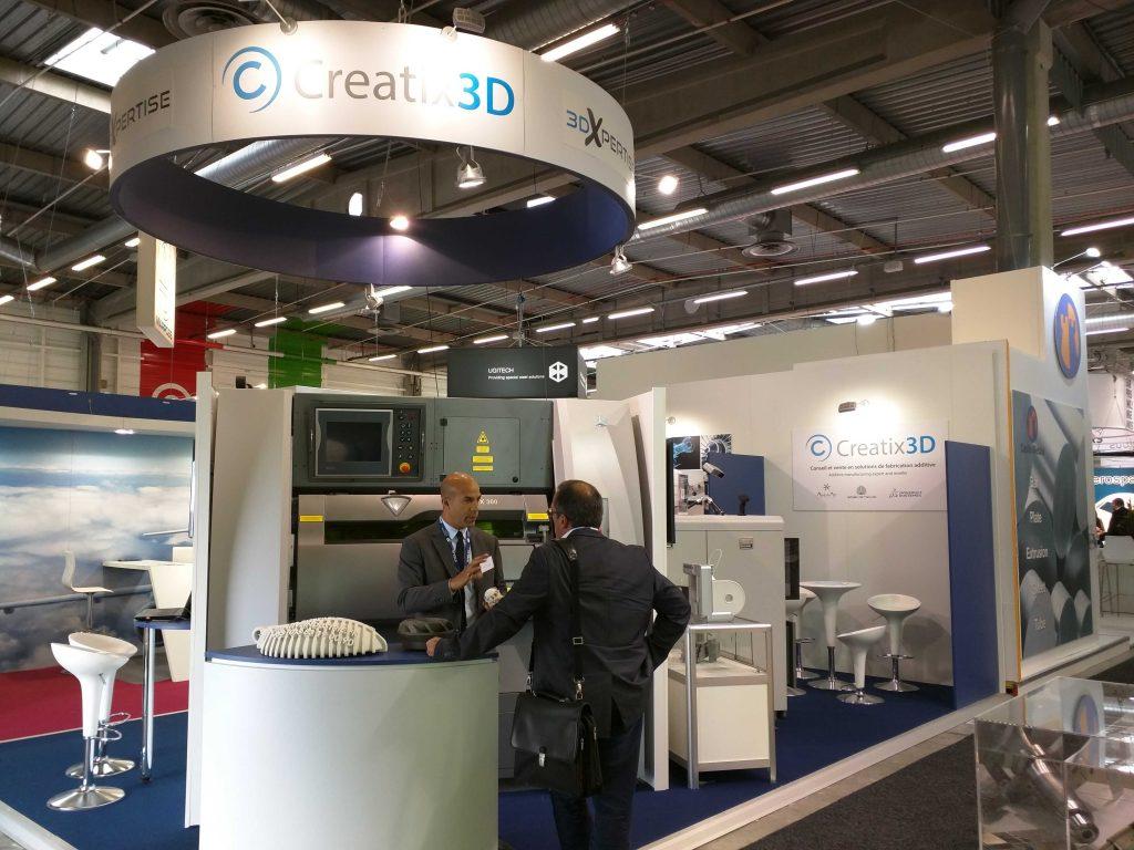 Le stand de Creatix 3D, revendeur des solutions 3D Systems