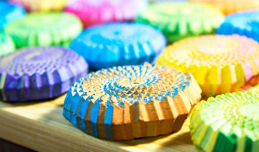 gâteaux colorés imprimés en 3D