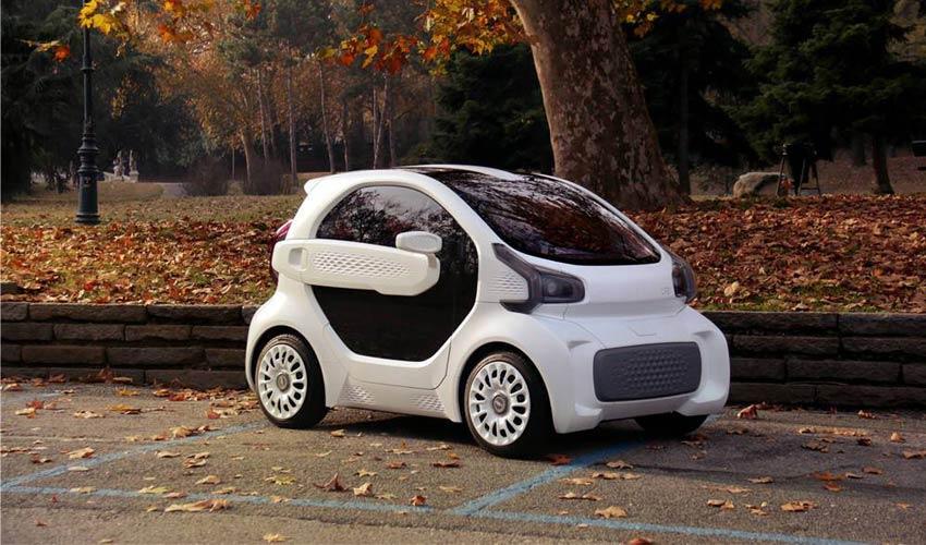 voiture électrique imprimée en 3D