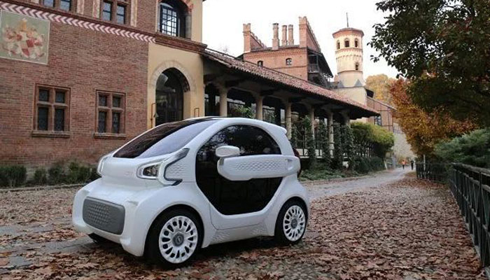 electric car printed in 3D