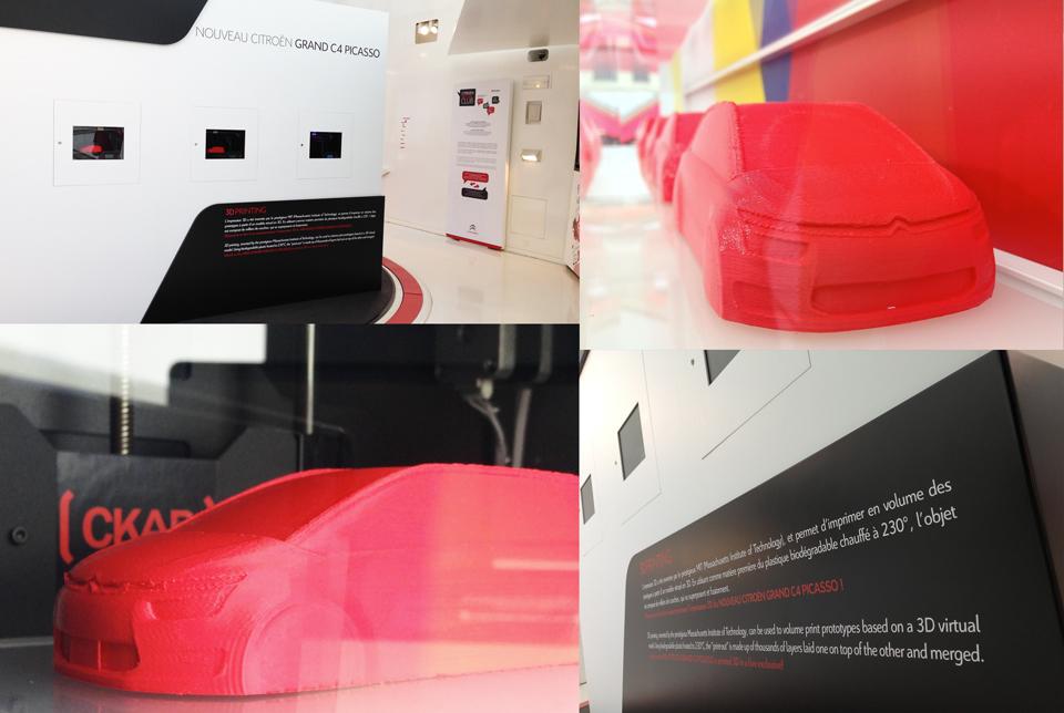 L'atelier '3D printing' au showroom C_42 de Citroën sur les Champs-Elysées // copyright CKAB