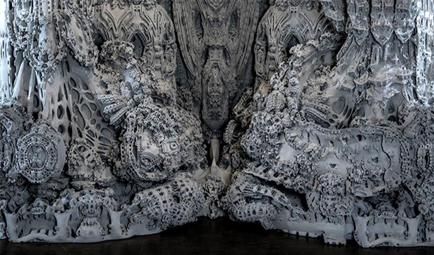 Digital Grotesque II, une impressionnante grotte imprimée en 3D exposée à Paris