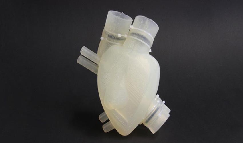 Un coeur imprimé en 3D en silicone et fonctionnel !