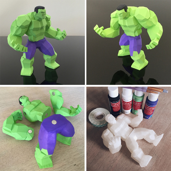 10. Le Hulk en Low Poly