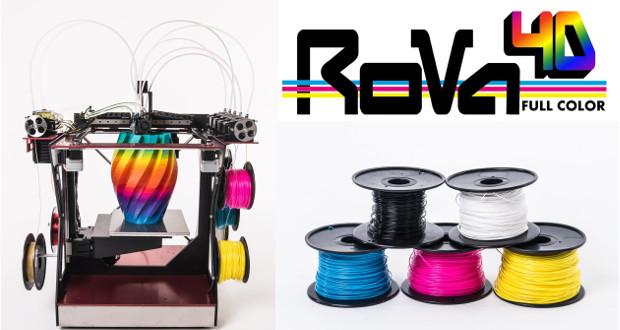 rova4d une imprimante 3d personnelle multi couleur. Black Bedroom Furniture Sets. Home Design Ideas
