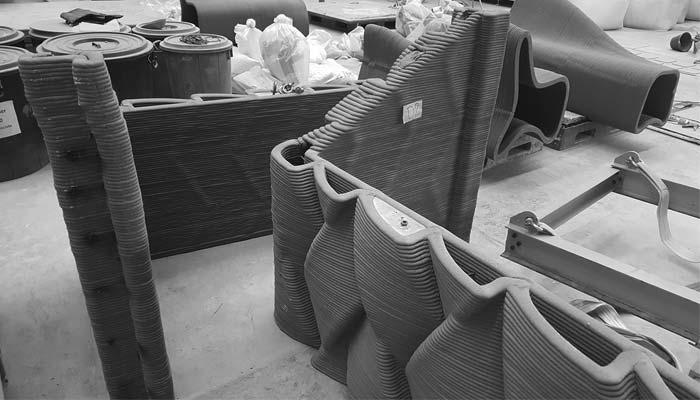 quand l 39 impression 3d de b ton rencontre l 39 artisanat tha landais 3dnatives. Black Bedroom Furniture Sets. Home Design Ideas