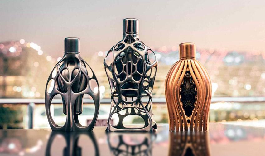 flacons de parfum imprimés en 3D